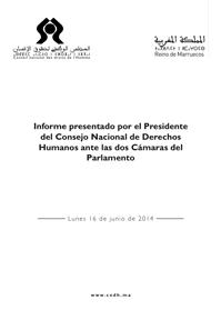 Informe presentado por el presidente del consejo nacional de derechos humanos ante las dos cámaras del parlamento