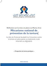Réflexion sur la mise en place au Maroc d'un Mécanisme national de prévention de la torture